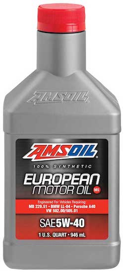 European Car Formula 5W-40 Improved Emissions System Protection Synthetic Oil